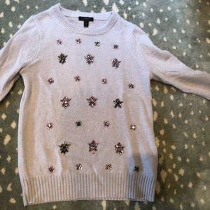 J Crew purple /lavender embellished sweater small